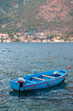 One boat in Kotor bay Royalty Free Stock Photography