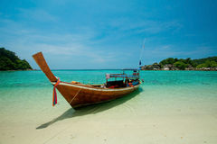 One Boat On The Sea Royalty Free Stock Photo