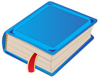 One book. One blue book on white background is insulated Stock Images
