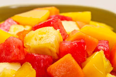 One bowl of Mixed tropical fruit salad Stock Image