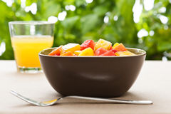 One bowl of Mixed tropical fruit salad Stock Photos