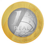 One Brazilian Real Royalty Free Stock Image
