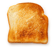 One bread slice. On the white background Royalty Free Stock Photos