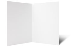 One break fold flyer. Blank one break folded flyer, ready for your own design royalty free stock photo
