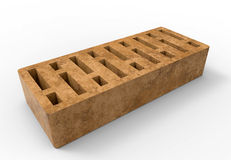 One brick Royalty Free Stock Image