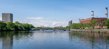One of the bridges on Charles River, Boston Royalty Free Stock Photos