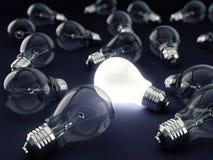 One Bright Bulb Stock Photos