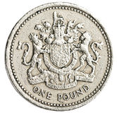One british pound coin Royalty Free Stock Photography