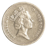 one british Pound coin Royalty Free Stock Image