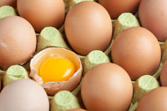One broken egg stock photo