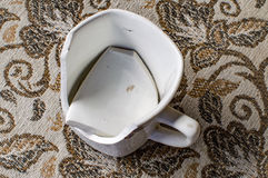 One broken old cup Stock Images