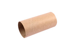 One brown paper roll isolated on white. It is one brown paper roll isolated on white Stock Image