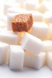 One brown sugar lump Royalty Free Stock Photo