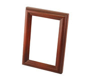 One brown wooden frame Royalty Free Stock Image