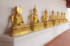 One buddha have face cover Stock Photography