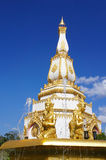 One of Buddhist Pagoda in Chaiya Mongkol Temple Stock Photos