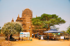 One of the Buddhist temples of old Bagan. royalty free stock photos