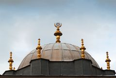 One of the building roof golden detail in Topkapi Royalty Free Stock Photo