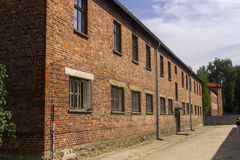 One of the buildings of Auschwitz I extermination camp Stock Photo
