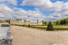 One of the buildings of the estate of Vaux-le-Vicomte, France. Vaux-le-Vicomte - classic French manor-palace of of the XVII century, situated 55 km south-east of Stock Images