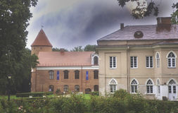 One of the buildings of Raudondvaris Manor, Lithuania Royalty Free Stock Image