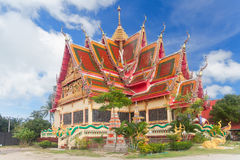 One of buildings of Wat Plai Laem Stock Photos