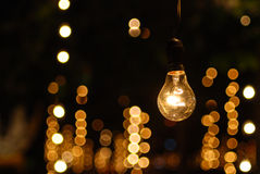 The one bulb light stand alone Stock Photos