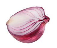one bulb red onion isolated on white background clipping path Royalty Free Stock Photography