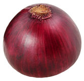 one bulb red onion isolated on white background clipping path Stock Photography