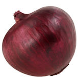 one bulb red onion isolated on white background clipping path Stock Photos
