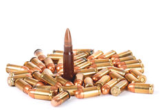 One bullet stands out Royalty Free Stock Images
