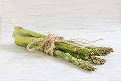 One bunch of fresh asparagus, healthy eating. Bunch of fresh asparagus, healthy eating, vegan and vegetarian food stock photo