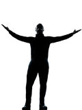 One business man happy arms outstretched Royalty Free Stock Photography