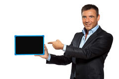 One business man pointing blackboard Royalty Free Stock Image