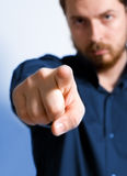 One business man pointing forward Royalty Free Stock Photos