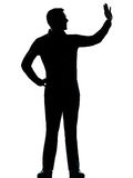 One business man saluting silhouette Royalty Free Stock Photos