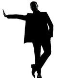 One business man silhouette Stock Photos