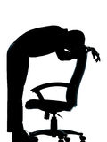 One business man  tired sad despair  silhouette Royalty Free Stock Photo