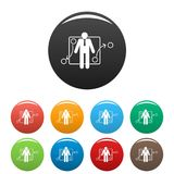 One businessman icons set color vector. One businessman icon. Simple illustration of one businessman vector icons set color isolated on white Royalty Free Stock Image