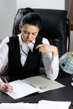 One businesswoman working Stock Photography