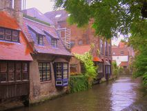 One of the canals in Bruges, Belgium Royalty Free Stock Images