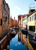 One of Canals of Venice, Italy. A quiet One of Canals in Venice Italy away from the tourist crowds Royalty Free Stock Image