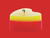 One candle. Stock Photography