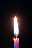 One candle on birthday Royalty Free Stock Photo