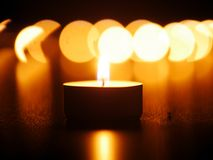 One candle flame Stock Image
