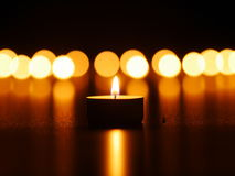 One candle flame Royalty Free Stock Photo