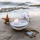 One candle at the sea Royalty Free Stock Photography
