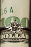One carat diamond ring royalty free stock images
