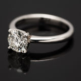 One Carat Diamond Solitaire. Stock Photo