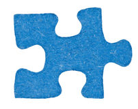 One cardboardblue piece of jigsaw puzzle Royalty Free Stock Images